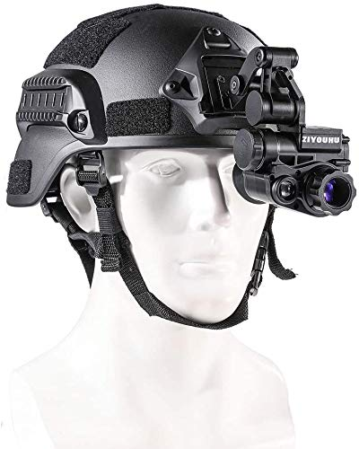 Gexmil Digital Night Vision Monocular with Helmet Mount,HD Infrared Digital Night Vision Goggles Rifle Scope for Hunting Forest Observe Wildlife Secenery