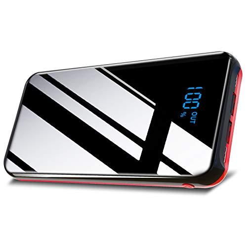 最新型のiPhone対応&26800mAh&USB-C出力モバイルバッテリー 大容量 USB-C - ランニングケーブル対応 PSE認証済急速携帯充電器 3USB出力ポート&2つ入力ポート 最大2.1A出力 二台同時充電 スマホ携帯充電器 持ち運び便利 鏡面仕上げデザインiPhone iPad Android機種対応 Hypamer