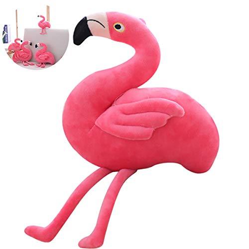 IHomiki Flamingo Kuscheltier Flauschigen Stoff Pink Flamingo Weich Durable Plüsch Flamingo-Spielzeug-Kind-Raum-Dekoration-Geschenk für Kinder und Mädchen (11