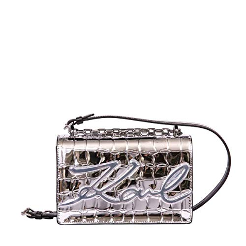 Luxury Fashion | Karl Lagerfeld Dames 96KW3031SILVER Zilver Leer Schoudertassen | Herfst-winter 19