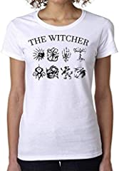 The Witcher Symbols Dragon Wolf Lion Moon Women's T-Shirt Camiseta