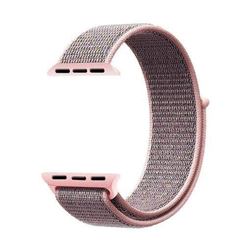 Pulseira Nylon Loop Sport Smartwatch Rosa Mescla 38mm 40mm