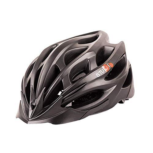 WANGSCANIS Adult Bike Helmet, Adjustable Protective Mountain Biking Road Cycling Helmet (Black, One Size)