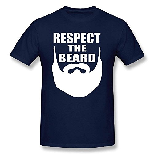 Respect The Beard Adult T-Shirt tee Tshirt
