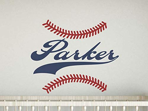 Personalized Name Wall Decal Boy Baseball Nursery Decor Baseball Name Decal Baseball Wall Decal Baby Boy Nursery Name Decal For Wall