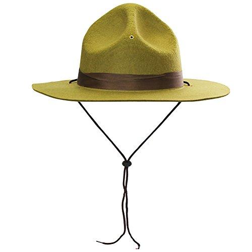 Funny Party Hats Ranger Hat – Braun Drill Sergeant Military Kampagne Hut - Grün - Einheitsgröße