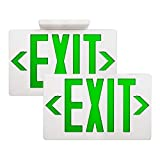 AKT LIGHTING Emergency Exit Sign, Double Face Commercial LED Emergency Exit Lighting with Back-Up Battery Exit...
