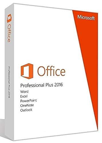 Office 2016 Professional Plus 32/64 Bit | Licence de MAIN-SOFTWARE PARTNER 1PC avec instructions d'installation par e-mail sous 1 à 2 heures par e-mail, 24h /7