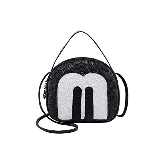TOTOD Bags for Women Wild Messenger Bag Litchi Soft Shoulder Bag Mobile Phone Case - Best Gifts for Girl Friend Black