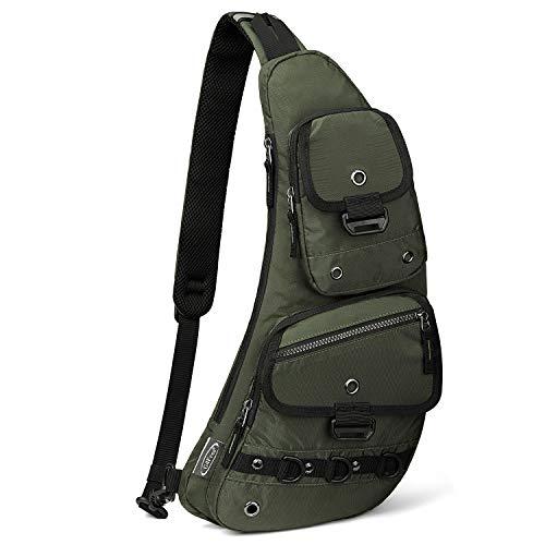 G4Free Sling Bags Crossbody Shoulder Backpack Fanny Pack Fashionable Chest Daypack for Men Women(Dark Green)