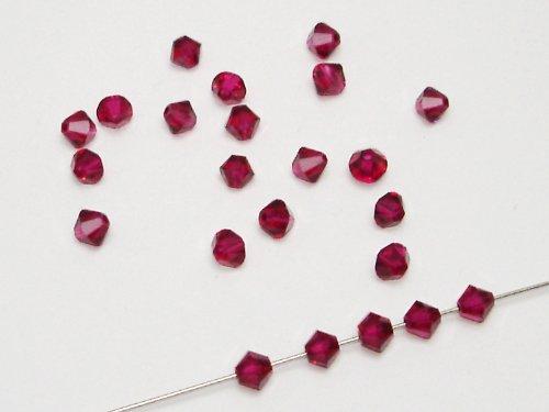 50 Swarovski® Perlen Bicone, 4 mm, Ruby , SW47