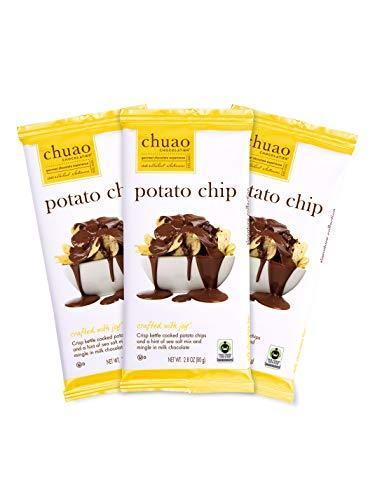 Chuao Chocolatier Potato Chip Milk Chocolate Gourmet Chocolate Bar, 3-Ct. (2.8 oz. each)…