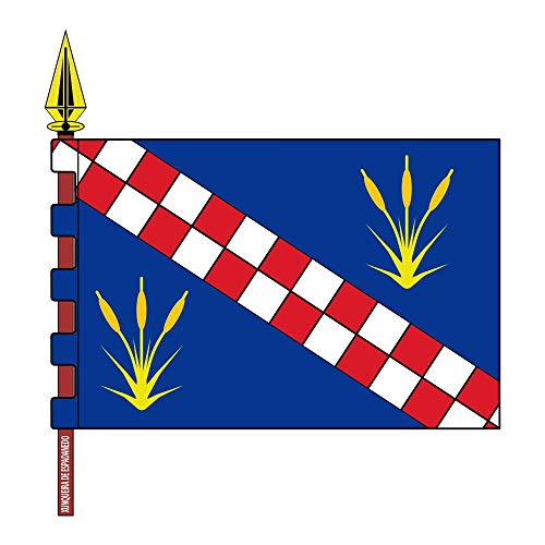 magFlags Bandera Large Xunqueira de Espadanedo Ourense | Xunqueira de Espadanedo, Ourense | 1.35m² | 120x120cm