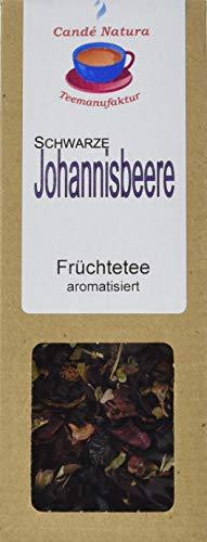 Candé Natura Teemanufaktur Schwarze Johannisbeere Fruechteteemischung, aromatisiert, 5er Pack (5 x 100 g)