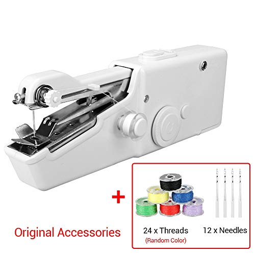 Naaimachines Mini 1Set draagbare handheld naaimachine Quick steek te naaien Handwerken Cordless Kleding Fabrics ZHQHYQHHX (Color : Sewing machine, Size : 1)