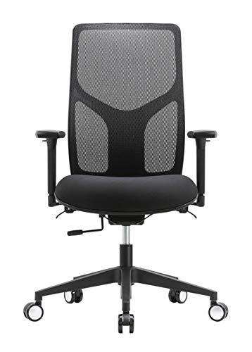 WorkPro 4000 Series Mesh/Fabric High-Back Multifunction Ergonomic Chair, Black