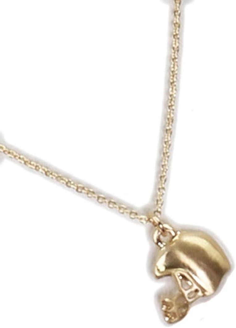 Fashion Jewelry ~ Goldtone Football Helmet Pendant Necklace