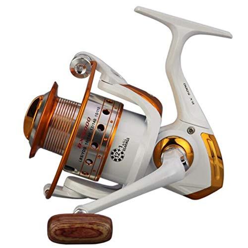 carretes de pesca girando 500-9000 Spinning Pesca Reel Roulette 12BB + 1 Rodamientos de bolas Fortalecer Metal Rocker Brazo Copa de alambre Sin Herramienta de espacio carrete de baitcasting