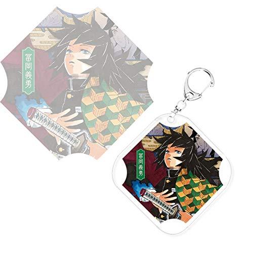 dili-bala Demon Slayer Kimetsu no Yaiba Key Chains Rings for Teens Backpack Keyring Cosplay Anime Charm Hanging Ornament(Multi-Style01)