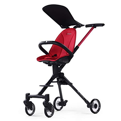 Discover Bargain ZL Kid Pram | Folding Baby Stroller High Landscape Foldable Small Light Aluminum Al...