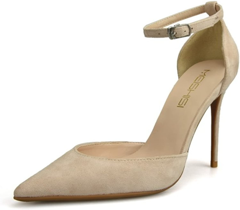 Women's shoes New PU(Polyurethane) Spring Summer Comfort Novelty Heels Stiletto Heel Pointed Toe Buckle Dress Sandals