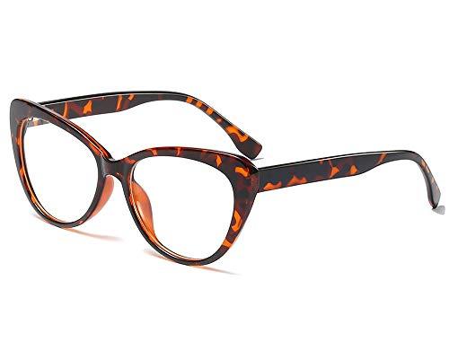 YOFASEN Montura De Gafas Unisex, Gafas Casuales Retro Al Aire Libre, Gafas De Sol Antideslumbrantes,Leopardo