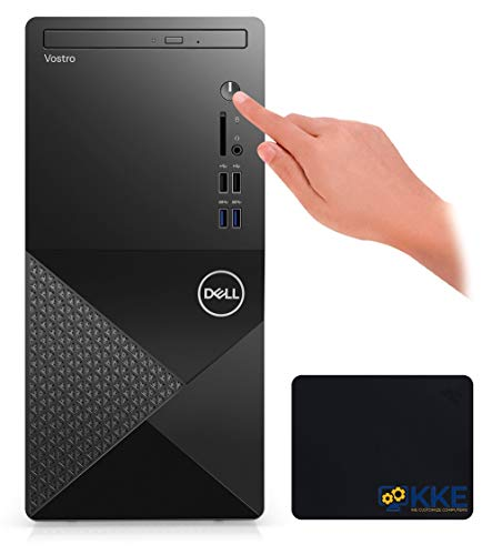 2021 Newest Dell Vostro 3000 Series 3888 Tower Business Desktop Computer, 10th Gen Intel Core i5-10400 6-Core Processor, 16GB RAM, 1TB Hard Disk Drive, DVD, HDMI, VGA, WiFi, Windows 10 Pro, KKE Bundle