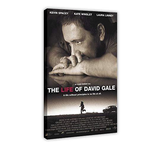 """Filmposter """"Das Leben von David Gale"""", Leinwand, Wandkunst, Dekor, Bild, Gemälde für Wohnzimmer, Schlafzimmer, Dekoration, 50 x 75 cm, Rahmen"""