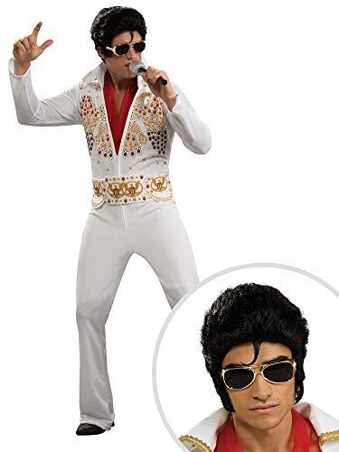 Men's Elvis Presley Costume and Men's Deluxe Elvis Wig