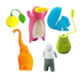 Cute Tea Filter Strainers Elephant Squirrel Owl lemon Platypus Silicone Tea Filter Strainers Gift for Friends,Father and Family