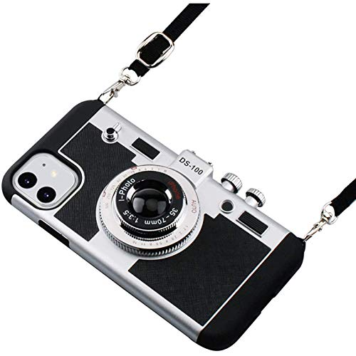 Emily en la caja del teléfono móvil de París, diseño fresco y manga de silicona de cámara retro única, acollador desmontable, adecuado para iphone1212pro12pro max12min1111pro11pro max