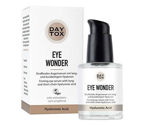 DAYTOX - Eye Wonder - Straffendes Hyaluron Augenserum, hochdosiert mit Sofortwirkung - Vegan, Ohne Silikone, Made in Germany - 30 ml