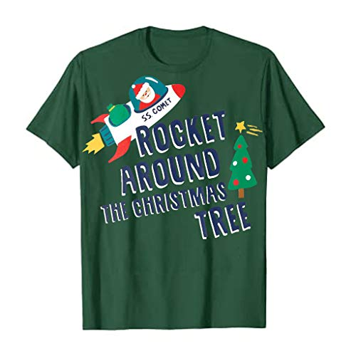 Meikosks Christmas T Shirt Womens Funny Letter Print Tops Short Sleeve Blouses Casual Pullover Green