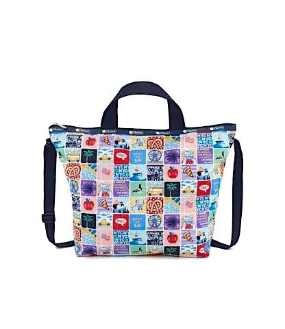 LeSportsac NY to LA Easy Carry Tote Crossbody + Top Handle Handbag, Style 2431/Color K602 (New York to Los Angeles, Exclusive)