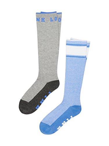 Victoria's Secret PINK Knee High Socks Grey & Blue- 2 Pairs