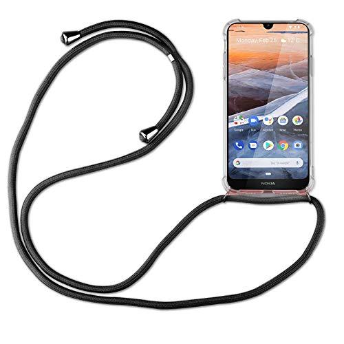 betterfon | Handykette kompatibel mit Nokia 3.2 Smartphone Necklace Hülle mit Band - Schnur mit Case zum umhängen in Schwarz