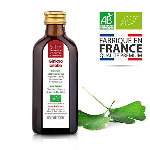 Ginkgo biloba bio franais Solution buvable de plantes fraches - Tonique crbral et micro-circulation - Origine France certifie Certifi AB