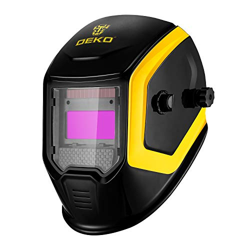 DEKOPRO Solar Powered Welding Helmet Auto Darkening Welder Mask Diversify Design Adjustable Shade Range 4/9-13 for MIG TIG Arc Welding Machine