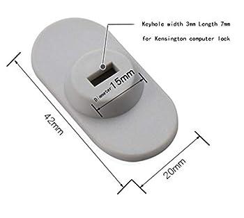 CaLeQi Câble verrou de sécurité pour Ordinateur Portable, PC et écran avec Combinaison - câble Noir de 2 m (Serrure d'ordinateur + Serrure Rectangulaire)