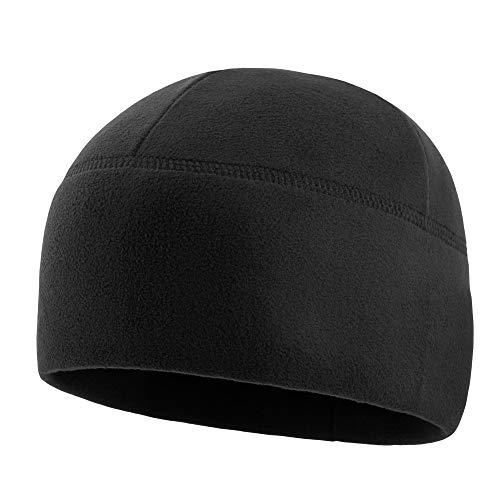M-Tac Tactical Beanie Fleece Watch Cap Military Winter Hat Elite (Black, S)