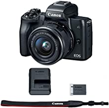 Canon EOS M50 Mirrorless Digital Camera (Black) with 15-45mm STM Lens Kit