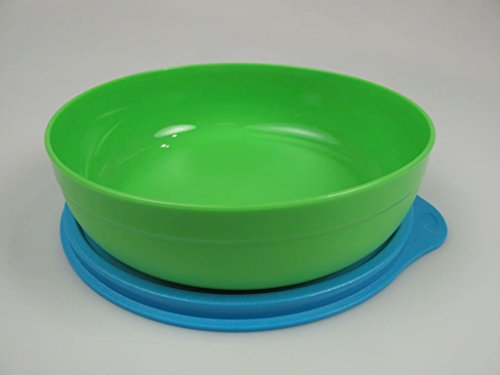 TUPPERWARE Kinder Teller grün blau Box Tupperbox Baby Kinderteller