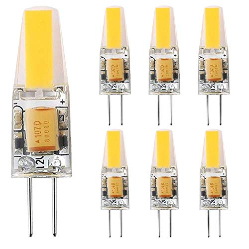 YQGOO Bombilla LED G4 de 6 W Equivalente a Bombillas halógenas de 60 W, ángulo de Haz de 360 °;Ángulo de Haz AC/DC 12V G4 Lámpara de luz LED, no Regulable