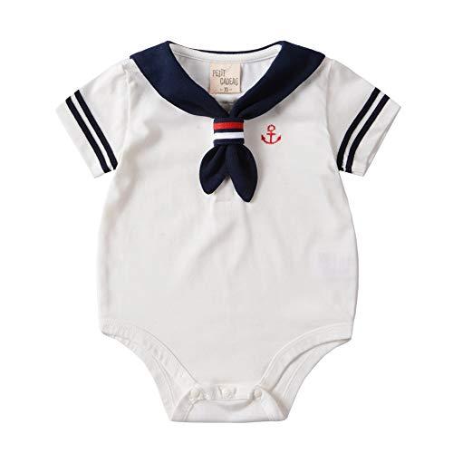UY6WS Traje del Verano del bebé del Mameluco de Manga Corta de algodón niñas Ropa recién Nacido del Mameluco del bebé Ropa de Las Muchachas del Cuerpo Uniformes de la Marina Marinero del bebé FD8WS