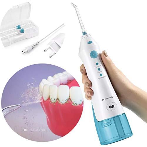 Irrigador Oral Bucal Portatil Recarregavel Limpa Dente 2 Bicos 360 Eletrico Bivolt (HC036)