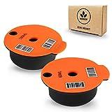 Moonizip Zéro Déchet - Capsule Tassimo Rechargeable Pack 2 Capsules (1 Capsule 60 ML + 1 Capsule 180 ML) - Dosette réutilisable Compatible avec Tassimo Bosch
