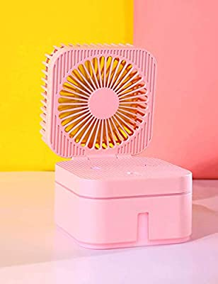 Personal Portable Small Fans, Mini USB Fan with Cool Humidifier, Desk Stroller Table Fan, Misting Fan with Nightlight, Cooling Folding Fan for Bed, Car, Office, Camping