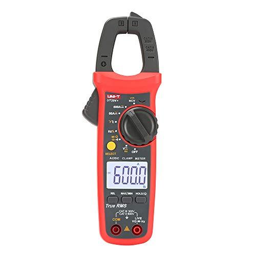 UNI-T UT204 + Digital Clamp Meter Temperatura AC DC tensione corrente Multimetro tester di resistenza