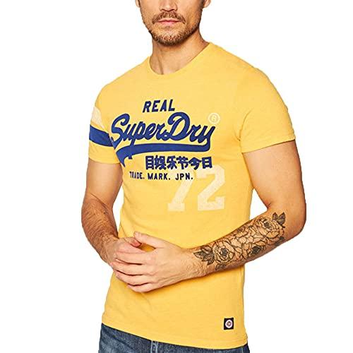 Superdry VL Varsity Tee T-Shirt, Upstate Gold Marl, S Homme