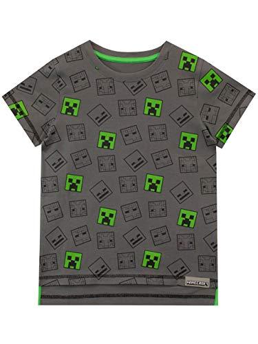 Minecraft - Camiseta para niño 10-11...